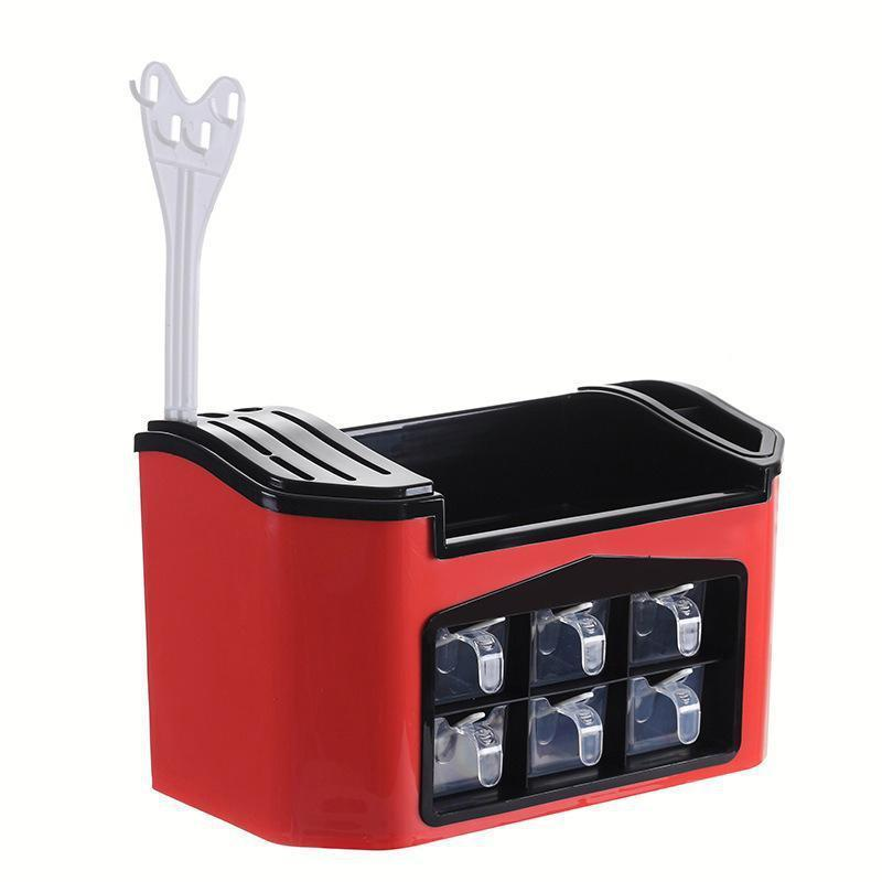 Multifunctional Spice & Kitchenware Organizer with Drawers & Knife Shelf-Luckyfine