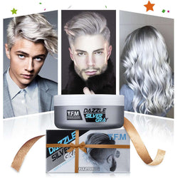120ml Natural Silver Gray Hair Wax, Temporary Hairstyle Cream-1