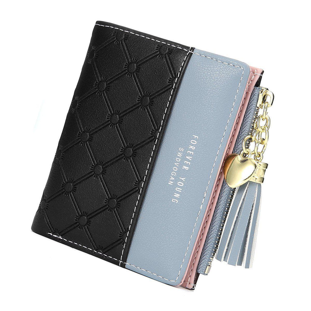 Patchwork PU Leather Wallet-Luckyfine