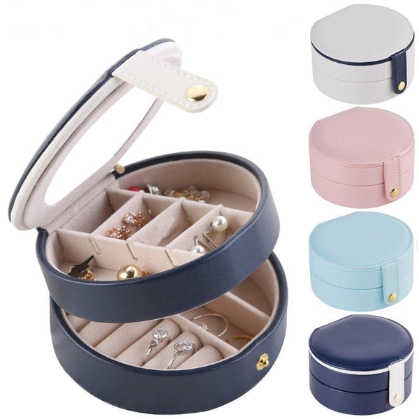 Portable Double Layer Jewelry Organizer Box Accessories Storage Box-Luckyfine