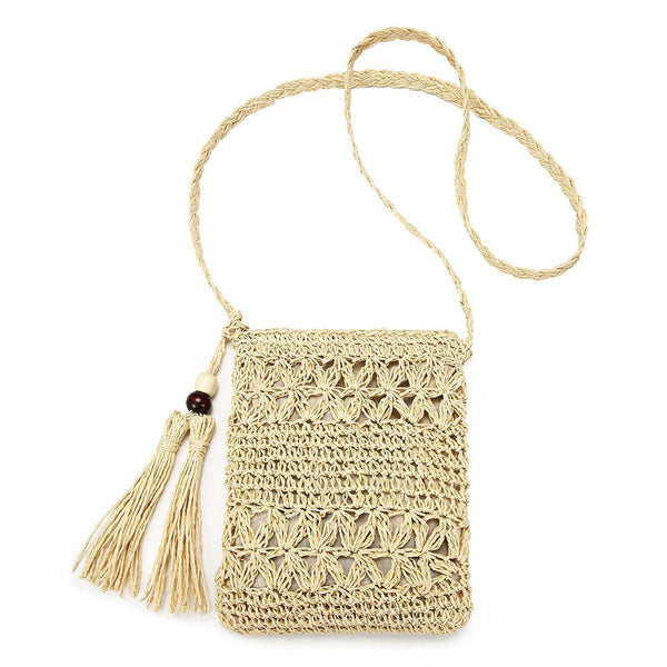 Hollow Weaving Crossbody Bag-Luckyfine