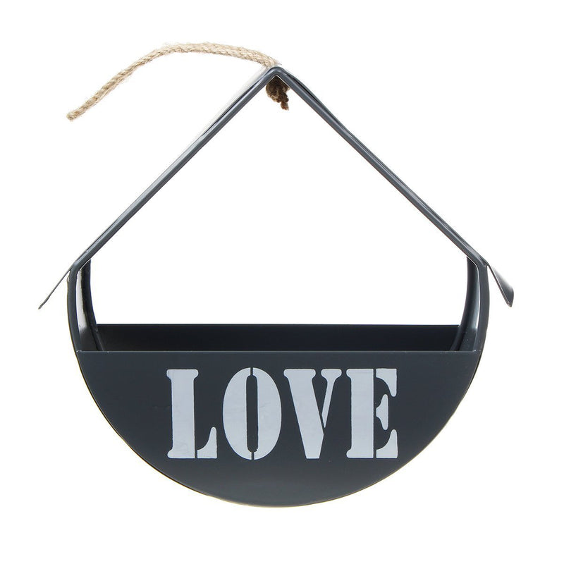 Vintage Hanging Storage Iron Display Shelf Hanging Flower Wall Basket