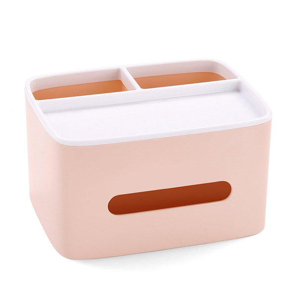 Tissue Box Desk Storage Organizer-Luckyfine