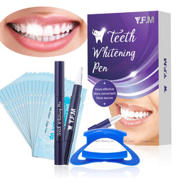 2PCS Teeth Whitening Pen Safe & Effective Teeth Whitening Gel, with Mouth Opener, 15 Teeth Wiper