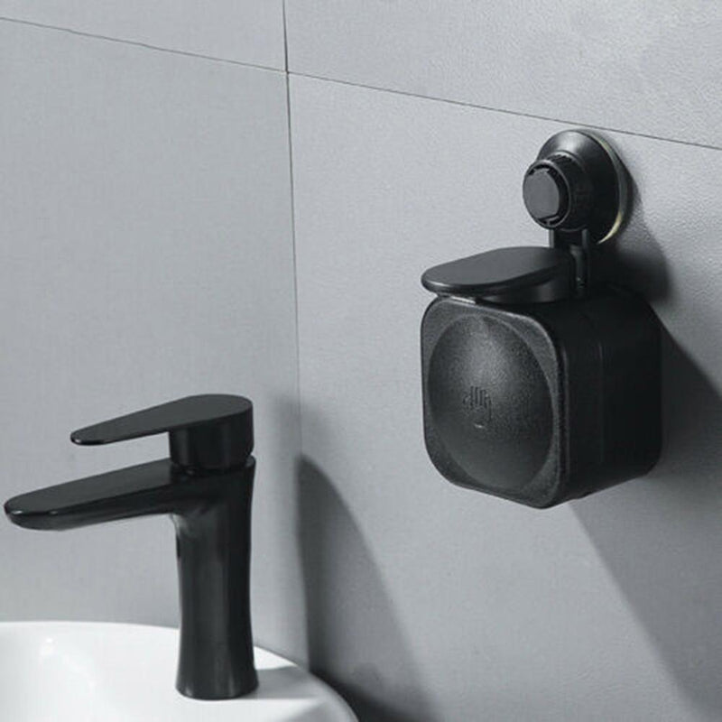 Wall Mounted Mini Soap Dispenser for Bathroom Kitchen, Modern Design with Unique Tech Vacuum Suction