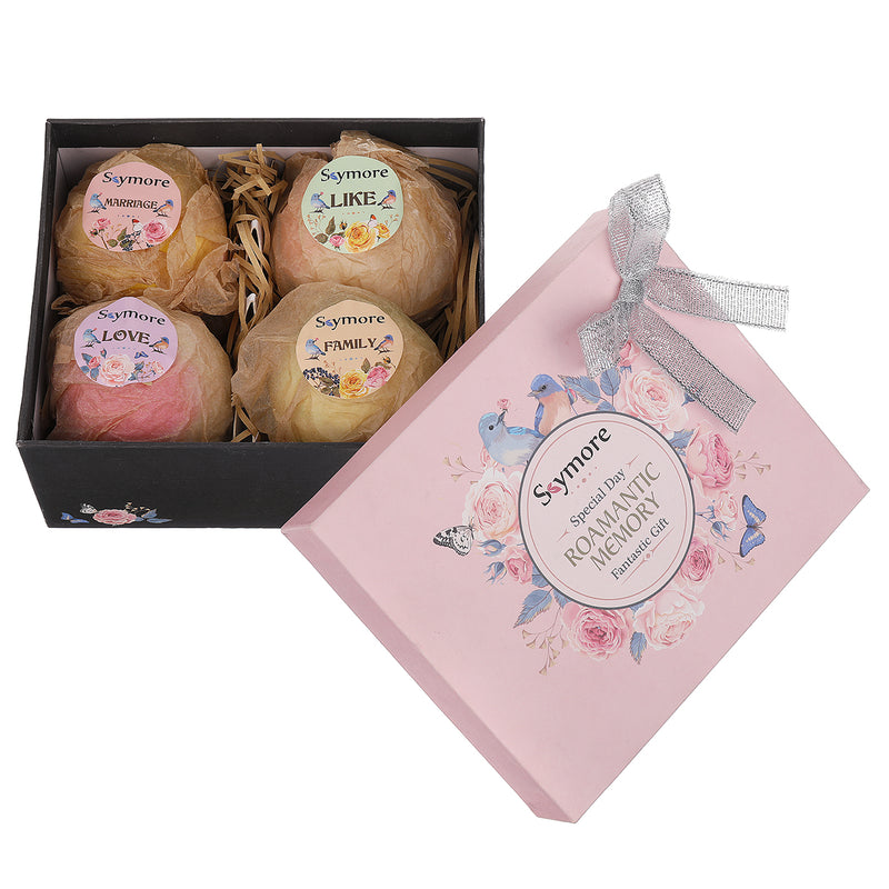 100% Pure Natural Frangrance Bath Bombs Gift Set for Spa Aromatherapy