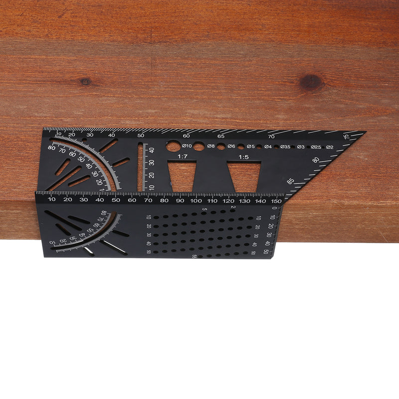 3D Mitre Angle Ruler, Multifunction Woodworking Measure Stencil Protractor Professional Aluminum Alloy Set