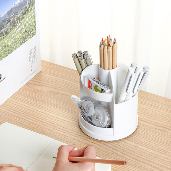 Multifunctional Rotatable Pencil Case Pen Holder for Home/Office/School
