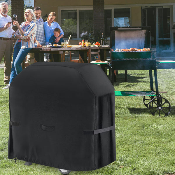 58'' Dust-proof Waterproof UV-Proof BBQ Grill Cover with Handle Straps Storage Bag for Weber, etc