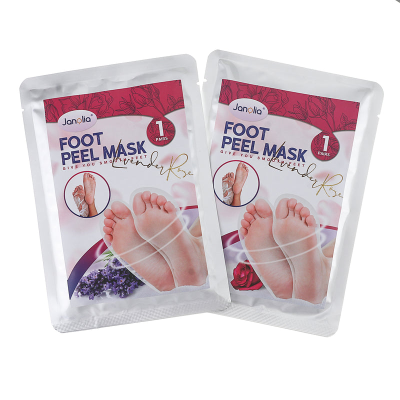 2 Pairs Foot Peel Mask, Lavender & Rose Essences Foot Exfoliating Mask, Remove Calluses & Dead Skin