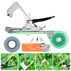 Tying Machine for Garden Planting Tapetool Tapener with 12 Rolls Tape Set for Vegetable, Fruits, Flowers