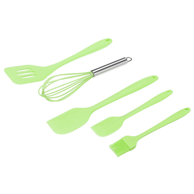 5PCS Food-grade Silicone Cooking Kitchen Utensils Tool Set Baking Accessories, Heat Resistant