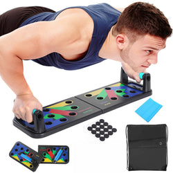 Foldable Multi-functional Push Up Rack Board Abdominal Muscle Exercise Equipment