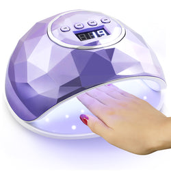 UV Nail Lamp, 86W UV LED Nail Dryer with 4 Timer Setting, Professional UV Light for Gel Nail Polish, Automatic Sensor and Over-Temperature Protection