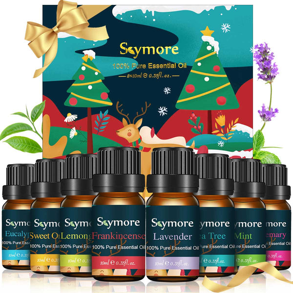 Skymore 8PCS Natural Essential Oils Set, Pure Fragrance Oils Set For Diffusers, Christmas Gift ideas