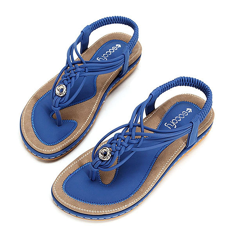 Flat Sandals Flip Flops-Deep Colour-Luckyfine