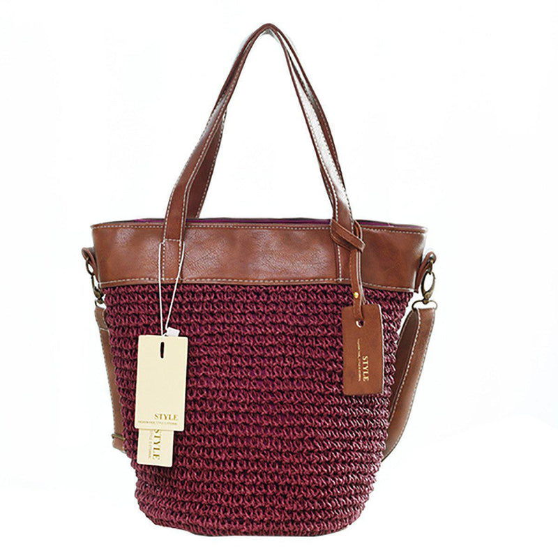 Outdoor Casual Cross body Straw Handbag-17