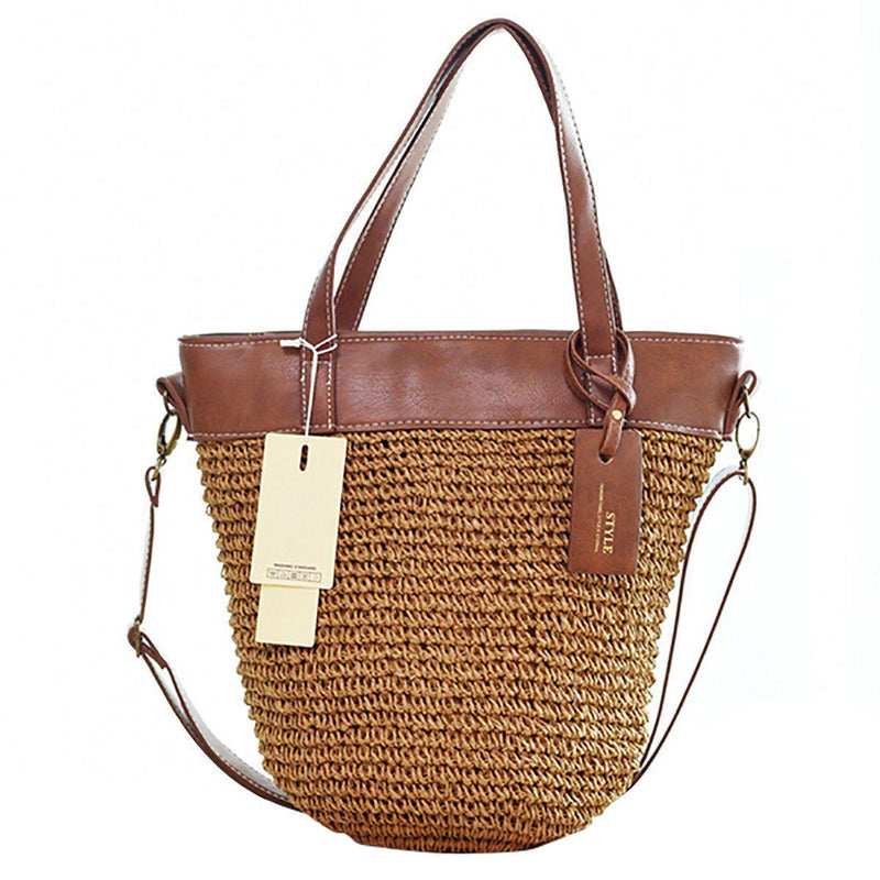 Outdoor Casual Cross body Straw Handbag-14