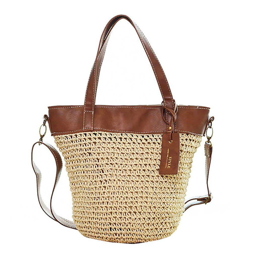 Outdoor Casual Cross body Straw Handbag-15