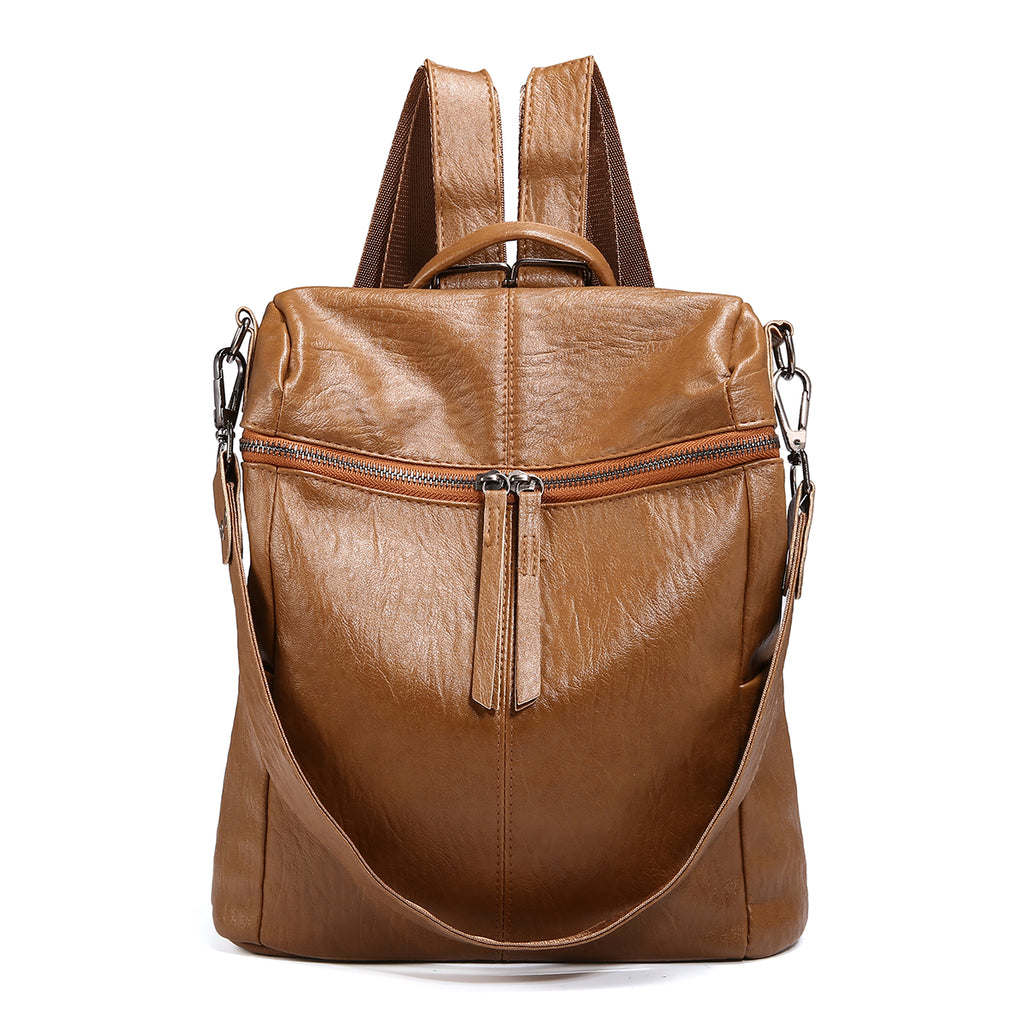 Soft PU Leather Backpack For Women-