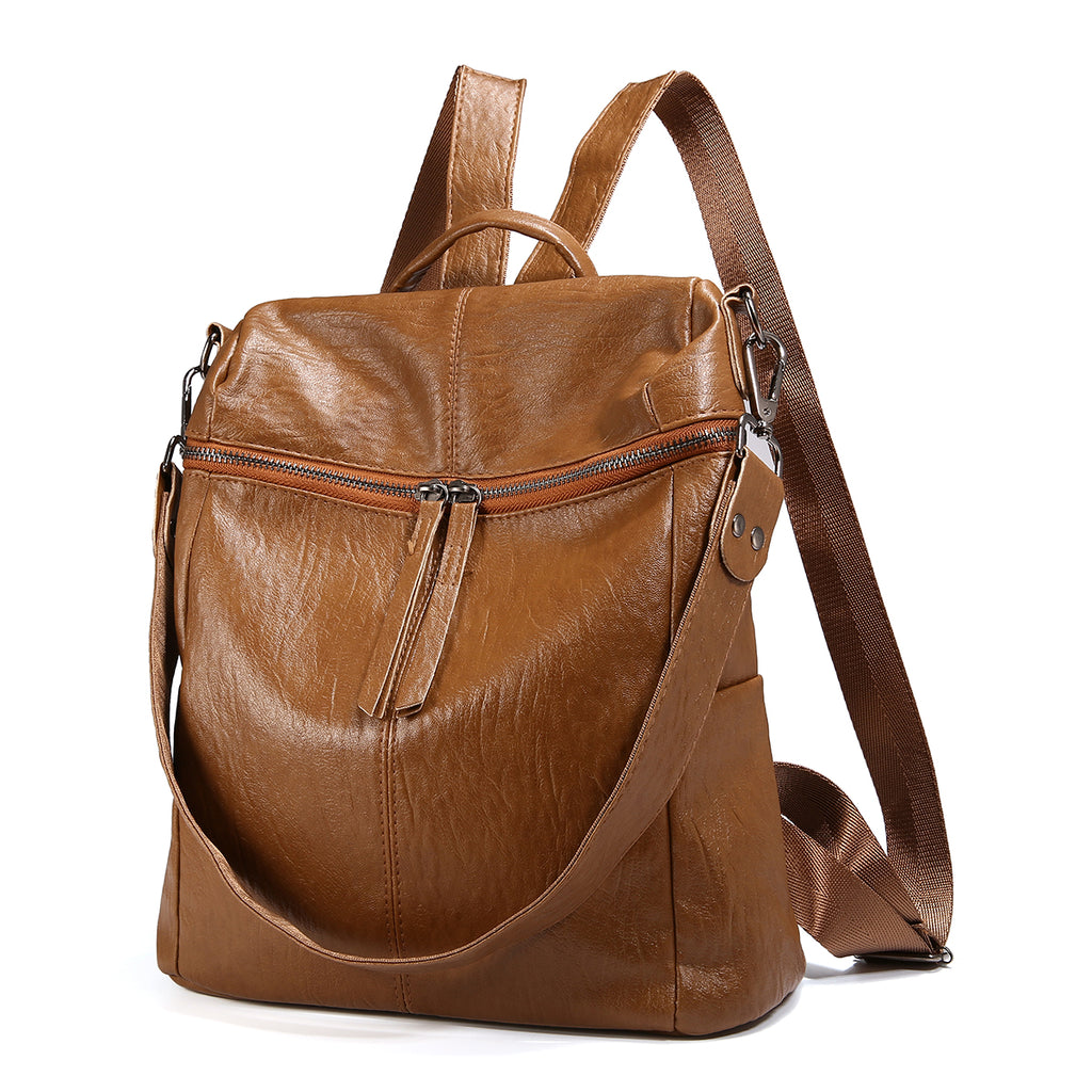Soft PU Leather Backpack For Women