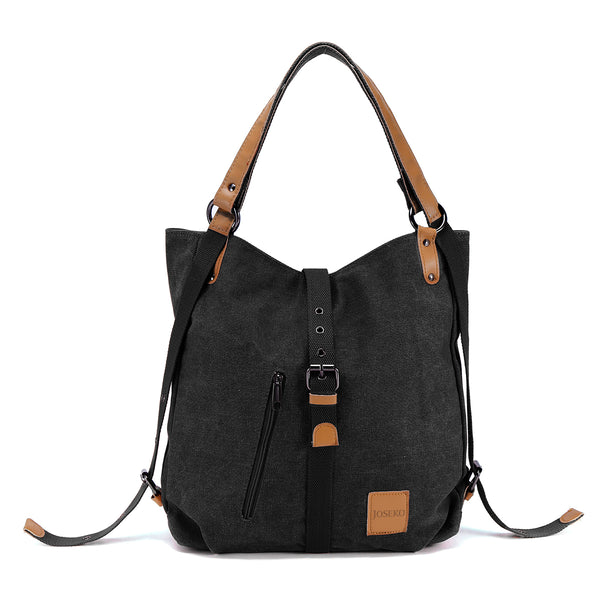 Women Multifunctional Casual Large Canvas Backpack Shoulder Bag