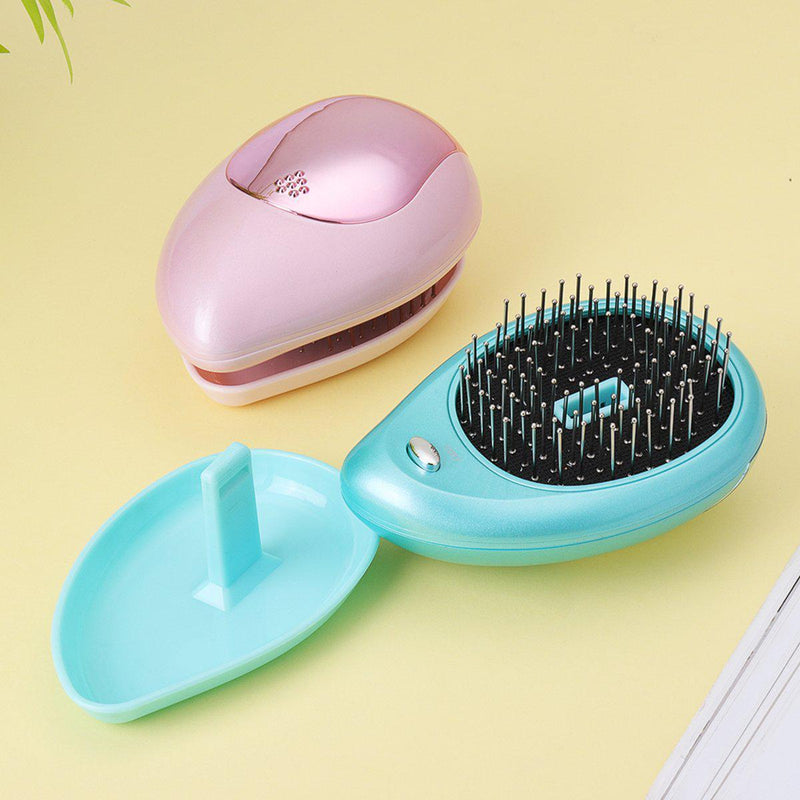 Mini Electric Ionic Hair Brush Portable Hair Comb Massager-Luckyfine