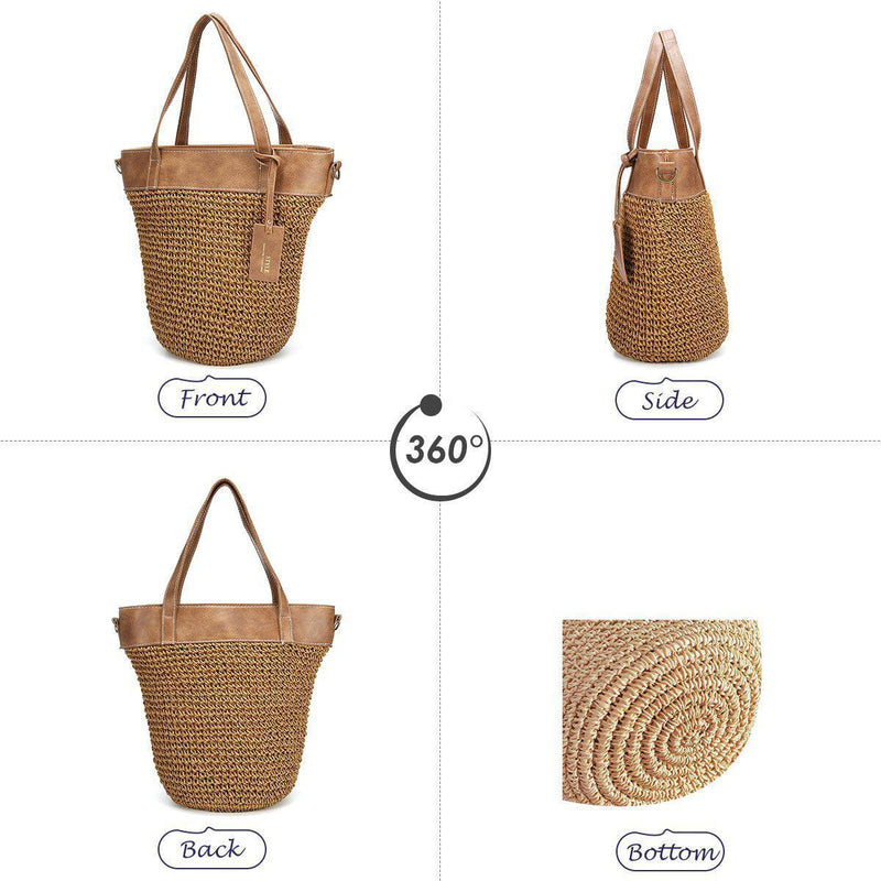 Outdoor Casual Cross body Straw Handbag-11