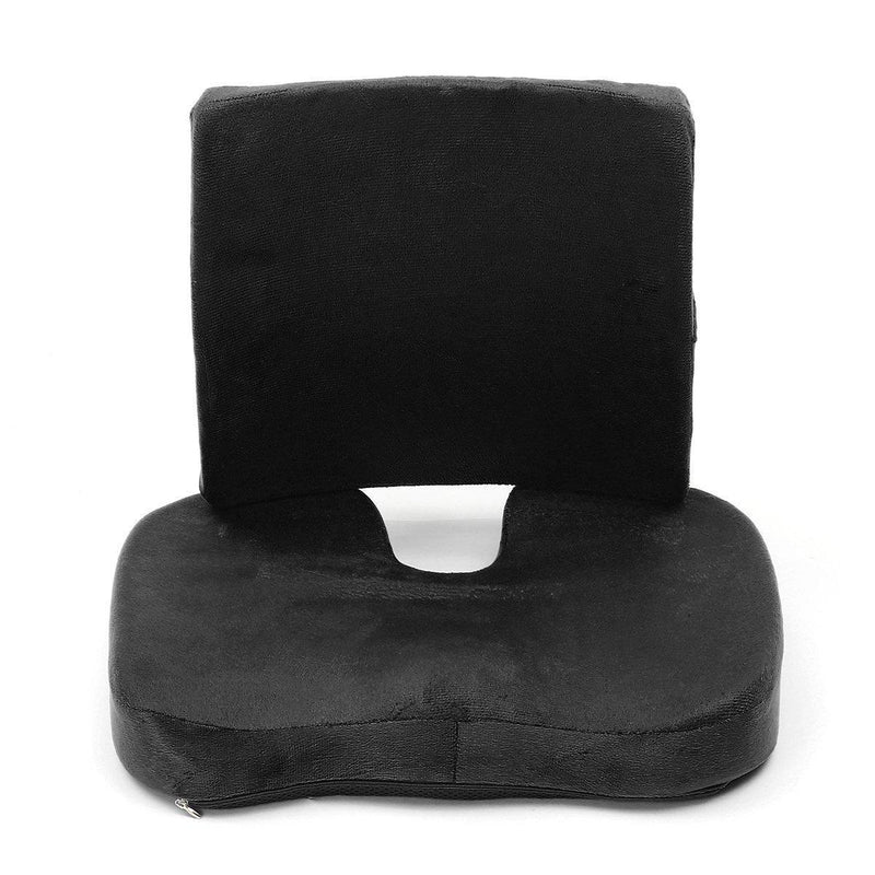 Memory Foam Back & Seat Cushion for Back, Lumbar Pain Relief-Luckyfine