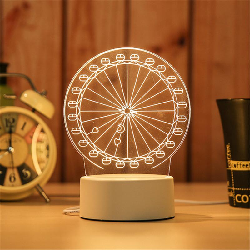 3D Night Light Bedroom Decor Desk Lamp-Luckyfine
