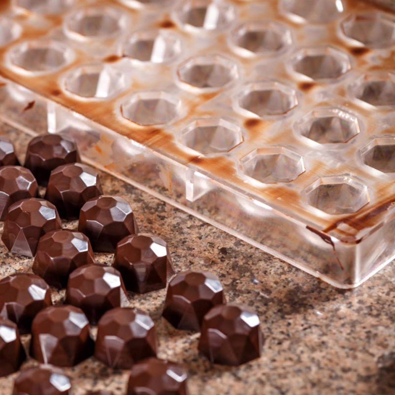 21 Grids Diamond Clear Chocolate Silicone Mould Jelly Candy Baking Tool for Festival Gift