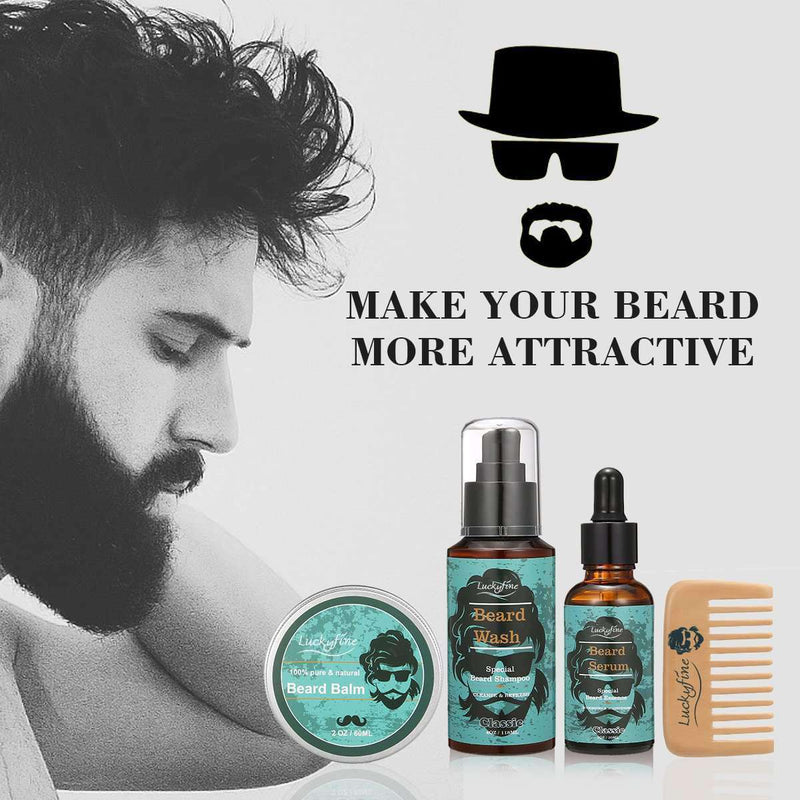 Beard Care Set-1-Luckyfine