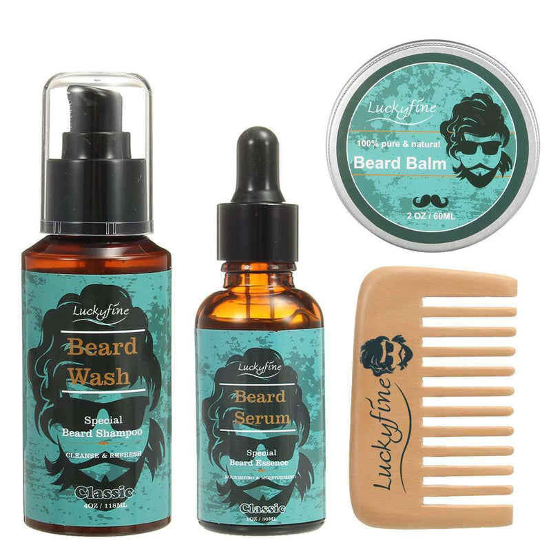 Beard Care Set-3-Luckyfine