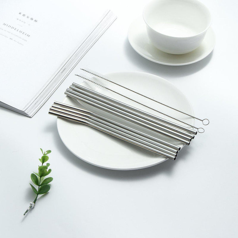 Stainless Steel Reusable Portable Straw Set-Luckyfine