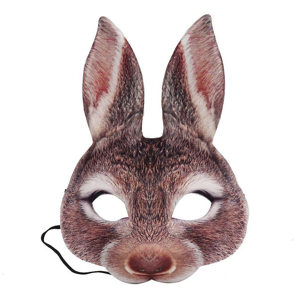 Adult Kids Half Face Rabbit Bunny Mask for Halloween/Easter/Masquerade/Carnival/Party-Luckyfine