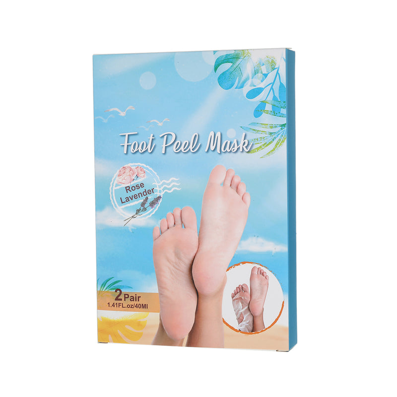 4 Pairs No Pain Exfoliating Dead Skin Natural Foot Peel Mask, 7 Days Repair for Men & Women