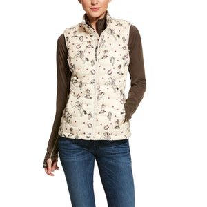 Ariat Women's Retro Print Ideal Down 3.0 Vest