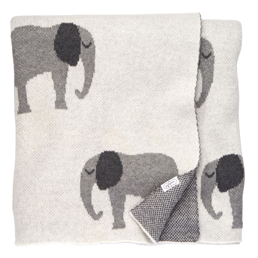 Knit Elephant Blanket