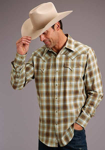 Stetson Dobby Twill Plaid Shirt