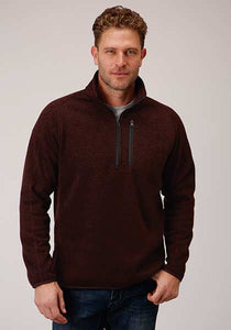 Stetson 1/4 Zip Knit Pullover Sweater