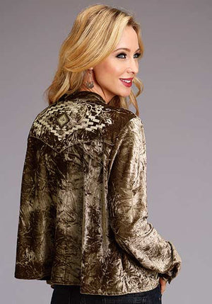 Women's Crushed Velvet Blouse