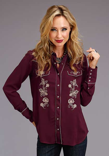 Women's Rayon Crepe Western Blouse