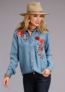 Women's Tencel Embroidered Blouse