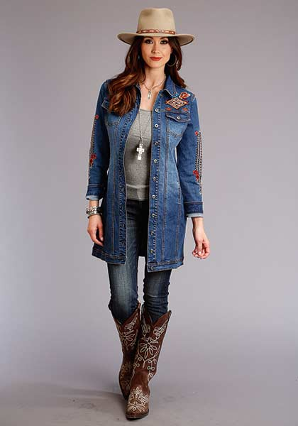 Women's Embroidered Denim Jacket