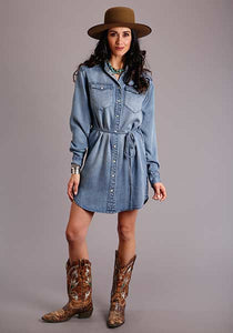 Stetson Denim Shirt Dress