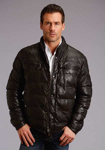 Stetson Quilted Leather Puff Jacket