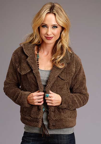 Women's Fuzzy Faux Fur Jacket