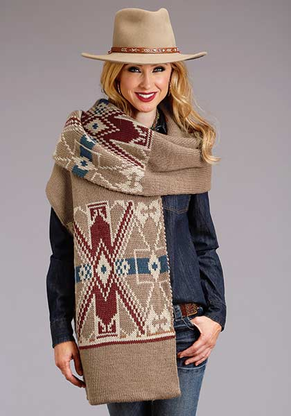Women's Wool Blend Sweater Scarf