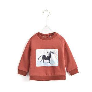 Hand Drawn Horse Print Sweatshirt
