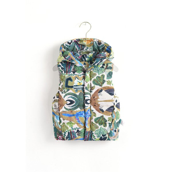 Overall Print Down Vest